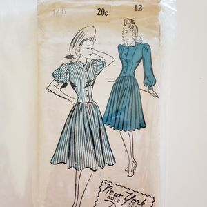 Vintage New York Sewing Dress Pattern 1441